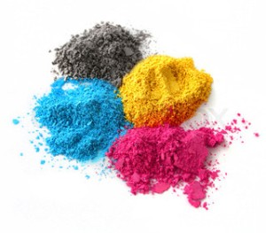Toner powder... such pretty colors!