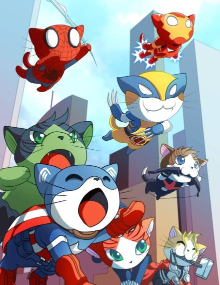 CatPrint January 2015 Artist of the Month Irene Lee Avengers Kitties