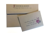 Kraft Envelope Sample for Wedding Suite by CatPrint