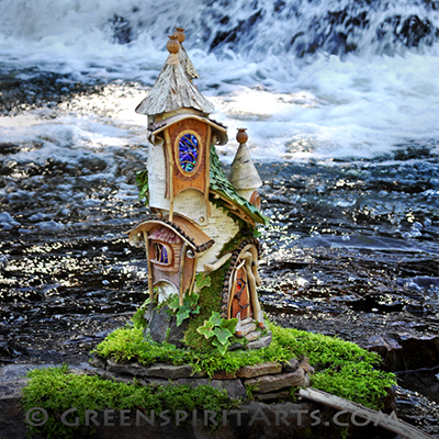 GreenSpirit Arts - Dragon Faerie House at Waterfall