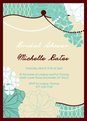 Wedding Bridal Shower Invitation CatPrint Design #053
