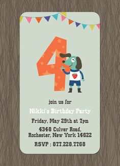 CatPrint Birthday Party Invitation Template Gallery Design #093