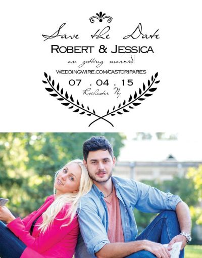 Wedding Save the Date Card CatPrint Design #095
