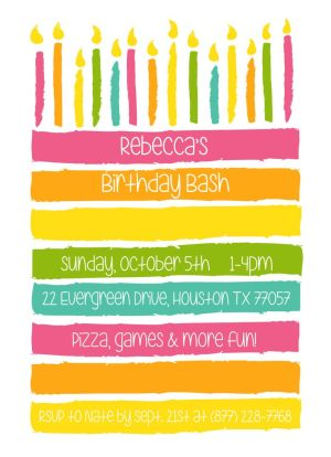 CatPrint Birthday Party Invitation Template Gallery Design #096