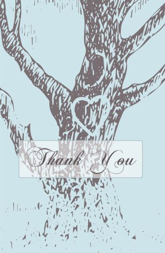 Wedding Thank You Card for guests! CatPrint Design #111