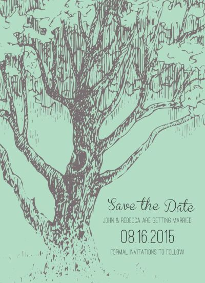 Wedding Save the Date Card CatPrint Design #119