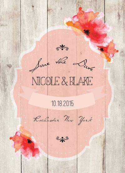 Wedding Save the Date Card CatPrint Design #135