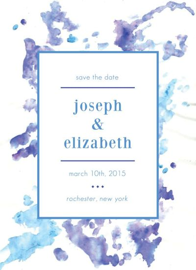 Wedding Save the Date Card CatPrint Design #233
