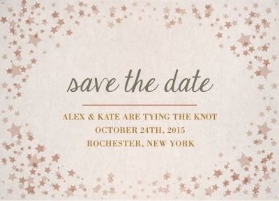 Wedding Save the Date Card CatPrint Design #234