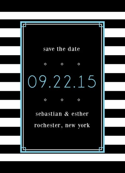 Wedding Save the Date Card CatPrint Design #235