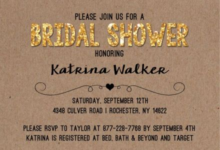 Wedding Bridal Shower Invitation CatPrint Design #238