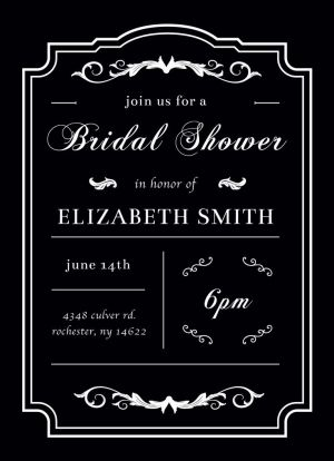 Wedding Bridal Shower Invitation CatPrint Design #239