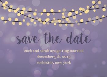 Wedding Save the Date Card CatPrint Design #240