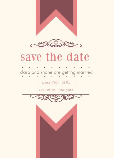 Wedding Save the Date Card CatPrint Design #241