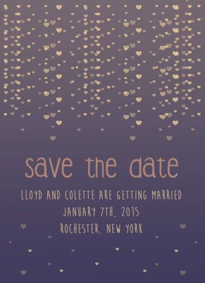 Wedding Save the Date Card CatPrint Design #244