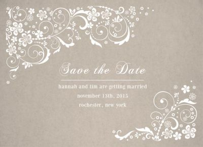 Wedding Save the Date Card CatPrint Design #246