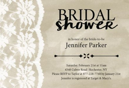 Wedding Bridal Shower Invitation CatPrint Design #247