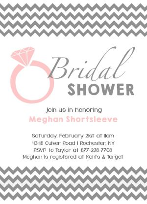Wedding Bridal Shower Invitation CatPrint Design #250