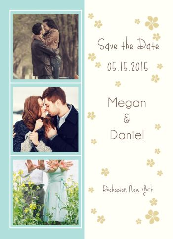 Wedding Save the Date Card CatPrint Design #252