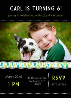 CatPrint Birthday Party Invitation Template Gallery Design #253