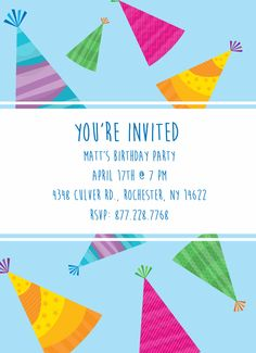 CatPrint Birthday Party Invitation Template Gallery Design #254
