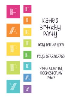 CatPrint Birthday Party Invitation Template Gallery Design #255