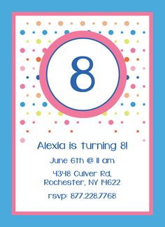 CatPrint Birthday Party Invitation Template Gallery Design #261
