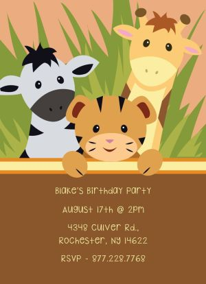 Birthday Party Invitation CatPrint Design #267