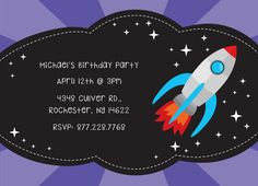 Birthday Party Invitation CatPrint Design #268
