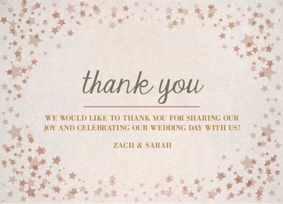 Wedding Thank You Card for guests! CatPrint Design #270