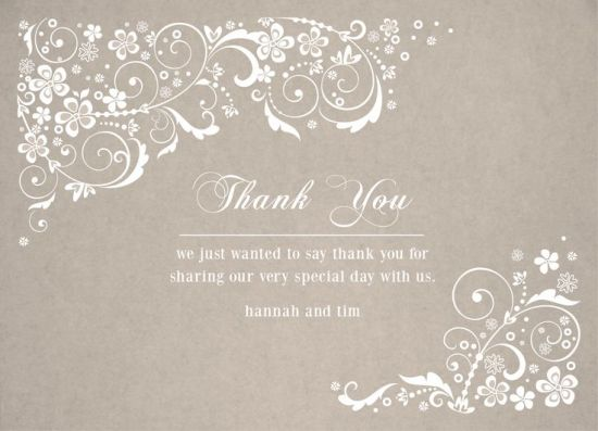 Wedding Thank You Card for guests! CatPrint Design #272