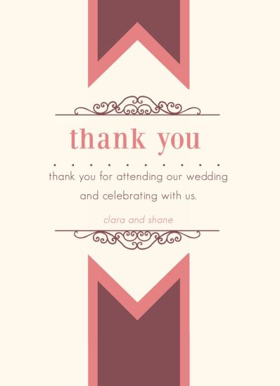 Wedding Thank You Card CatPrint Design #277