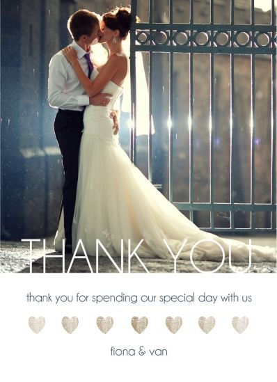 Wedding Thank You Card CatPrint Design #278