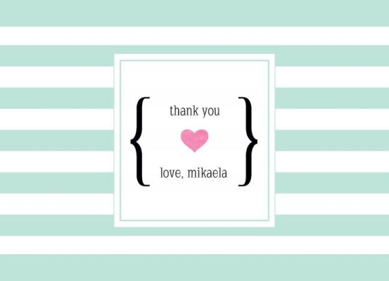 Wedding Thank You Card CatPrint Design #279