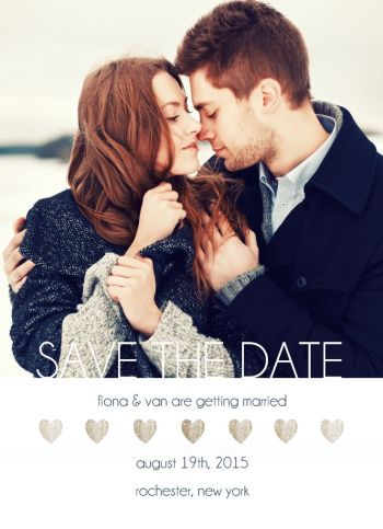 Wedding Save the Date Card CatPrint Design #280