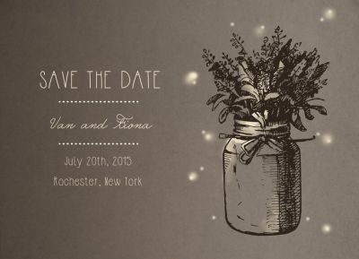 Wedding Save the Date Card CatPrint Design #287