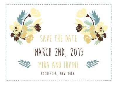 Wedding Save the Date Card CatPrint Design #288