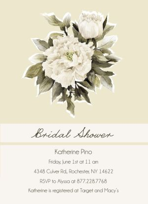 Wedding Bridal Shower Invitation CatPrint Design #292