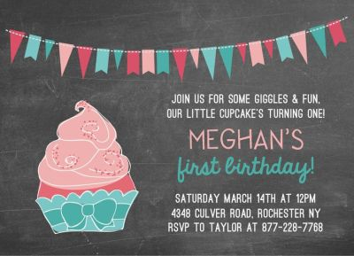 Birthday Party Invitation CatPrint Design #303
