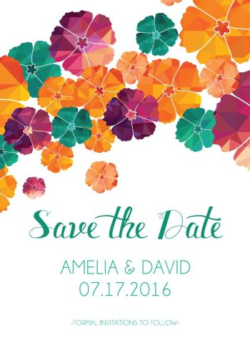 Wedding Save the Date Card CatPrint Design #304
