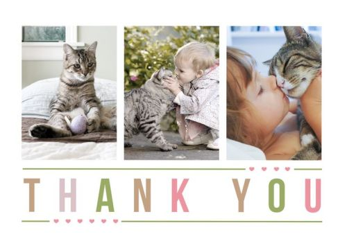 CatPrint Thank You Card Design #468