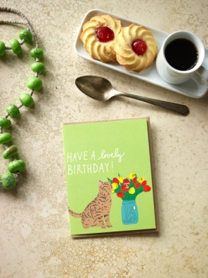 La Familia Green Greeting Cards