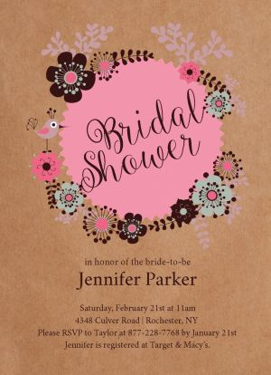 Wedding Bridal Shower Invitation CatPrint Design #243