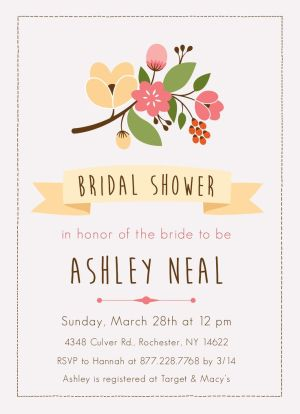Wedding Bridal Shower Invitation CatPrint Design #289