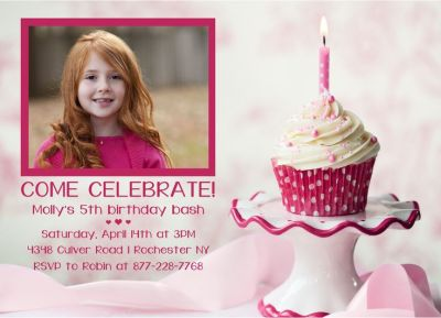 Birthday Party Invitation CatPrint Design #307