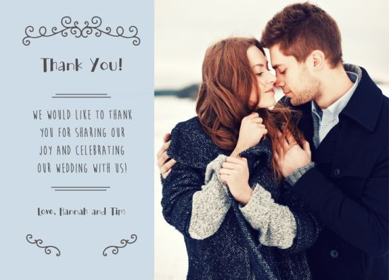 Wedding Thank You Card CatPrint Design #276