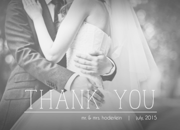 Wedding Thank You Card CatPrint Design #476